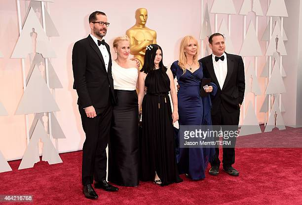Eric White Actress Patricia Arquette Harlow Olivia Calliope Rosanna Arquette and Richmond Arquette attend the 87th Annual Academy Awards at Hollywood...