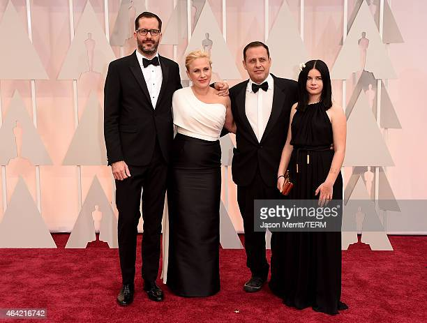 Eric White Actress Patricia Arquette Richmond Arquette and Harlow Olivia Calliope attends the 87th Annual Academy Awards at Hollywood Highland Center...