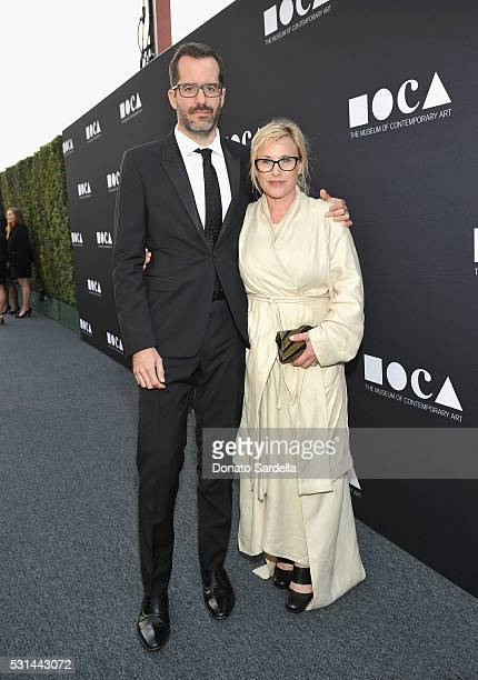 Eric White and actress Patricia Arquette attend the MOCA Gala 2016 at The Geffen Contemporary at MOCA on May 14 2016 in Los Angeles California