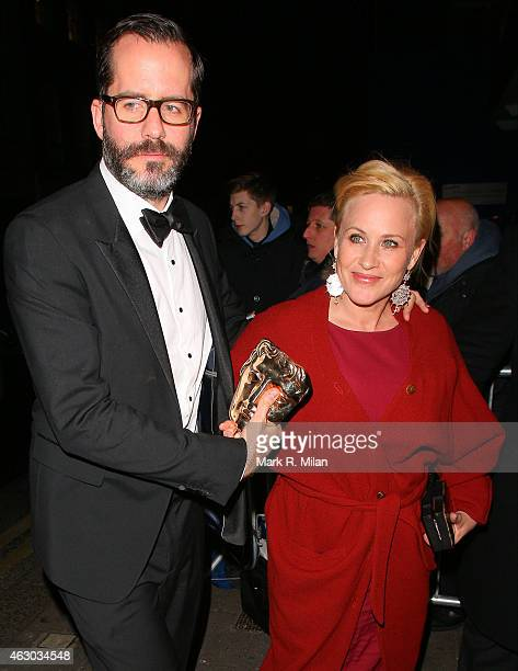 Eric White and Patricia Arquette at Little House on February 8 2015 in London England