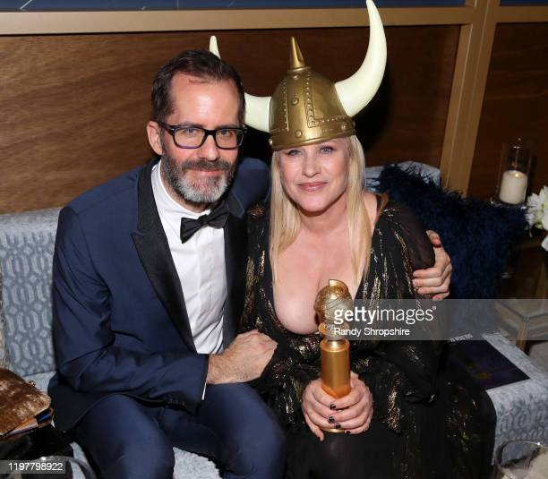 Eric White and Patricia Arquette attend The 2020 InStyle And Warner Bros. 77th Annual Golden Globe Awards Post-Party at The Beverly Hilton Hotel on...