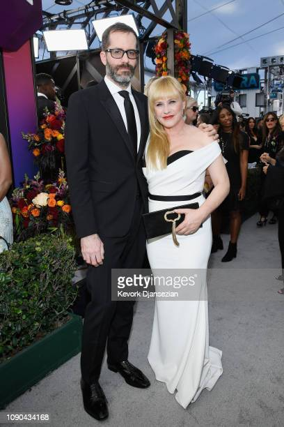Eric White and Patricia Arquette attend the 25th Annual Screen Actors Guild Awards at The Shrine Auditorium on January 27 2019 in Los Angeles...