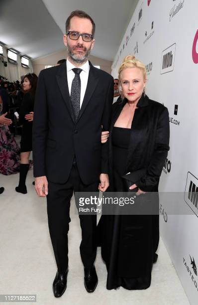 Eric White and Patricia Arquette attend the 27th annual Elton John AIDS Foundation Academy Awards Viewing Party sponsored by IMDb and Neuro Drinks...