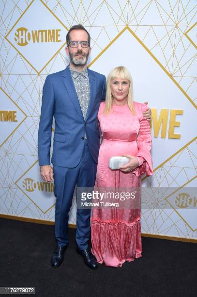 Eric White and Patricia Arquette attend the Showtime Emmy Eve nominees celebration at San Vincente Bungalows on September 21, 2019 in West Hollywood,...