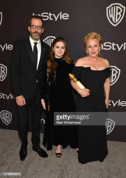 Eric White Harlow Olivia Calliope Jane and Patricia Arquette attend the 2019 InStyle and Warner Bros 76th Annual Golden Globe Awards PostParty at The...