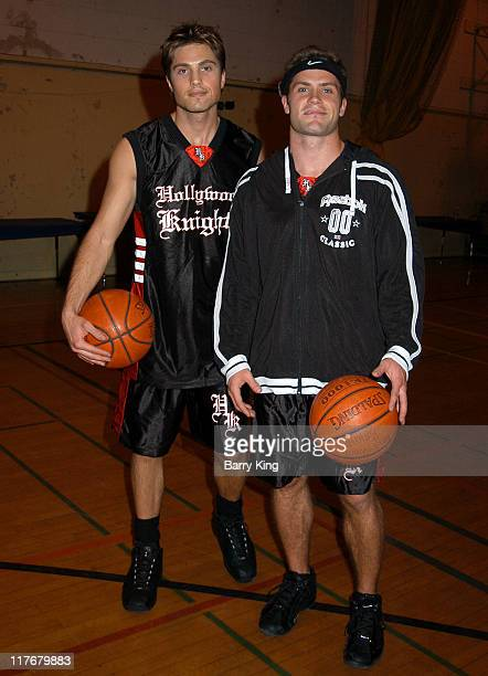 Eric Winter and Kyle Brandt during Hollywood Knights Charity Basketball Game - Burbank at Burbank High School in Burbank, California, United States.
