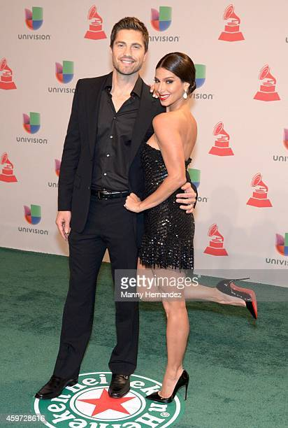 Eric Winter and Roselyn Sanchez arrive at the 15th Annual Latin Grammy Awards on November 20 2014 in Las Vegas Nevada