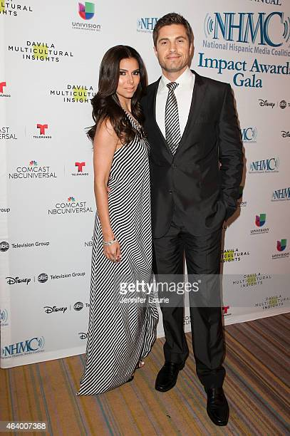 Eric Winter and Roselyn Sanchez arrive at the 18th Annual NHMC Impact Awards Gala at the Regent Beverly Wilshire Hotel on February 20 2015 in Beverly...