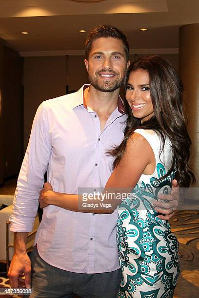 Eric Winter and Roselyn Sanchez attend Roselyn Sanchez Triathlon for a Smile VIP Cocktail Party at Caribe Hilton Hotel on October 16, 2014 in San...