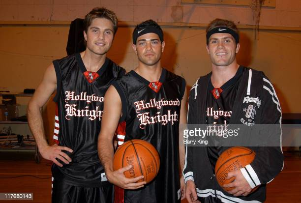 Eric Winter, Jesse Metcalfe and Kyle Brandt during Hollywood Knights Charity Basketball Game - Burbank at Burbank High School in Burbank, California,...