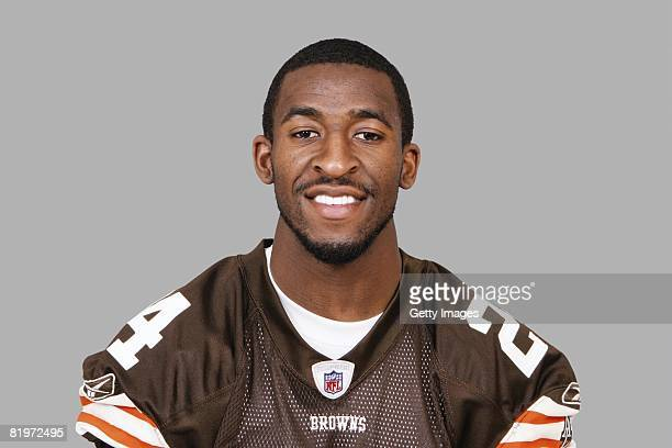 Eric Wright of the Cleveland Browns poses for his 2008 NFL headshot at photo day in Cleveland Ohio
