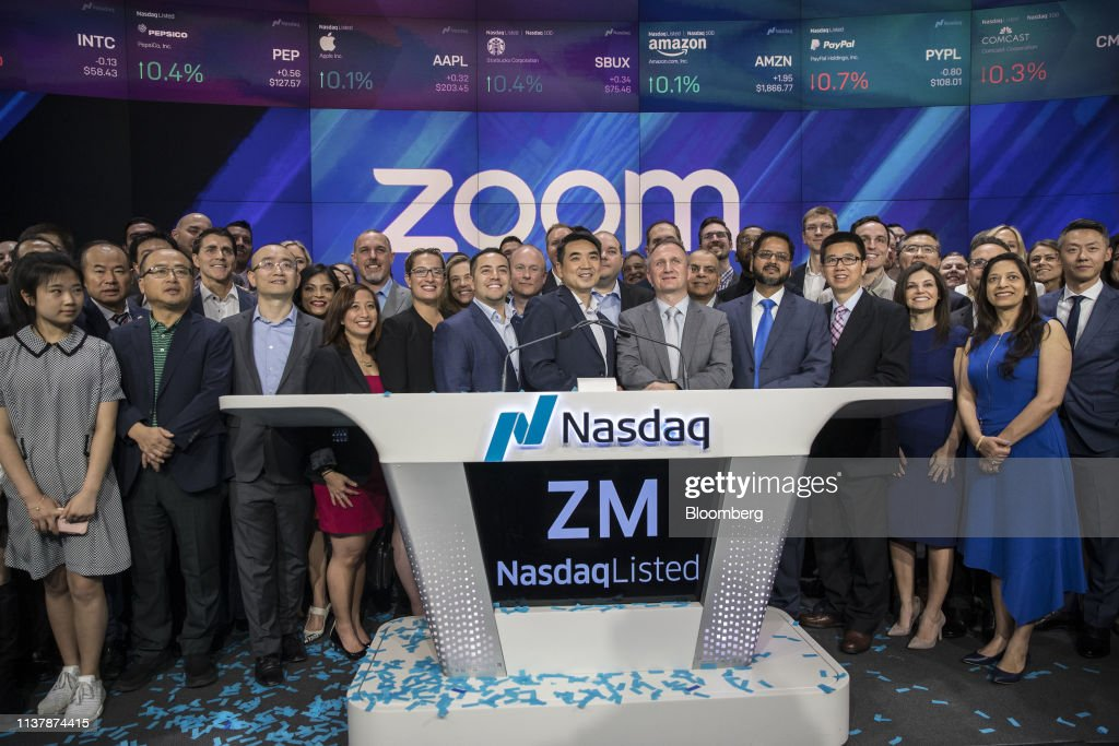 NY: Zoom Video Communications Inc. Debuts Initial Public Offering At Nasdaq MarketSite