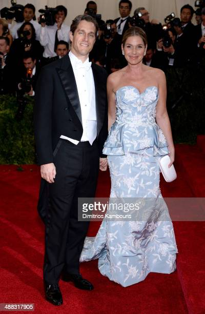 Eric Zinterhofer and Aerin Lauder attend the 'Charles James Beyond Fashion' Costume Institute Gala at the Metropolitan Museum of Art on May 5 2014 in...