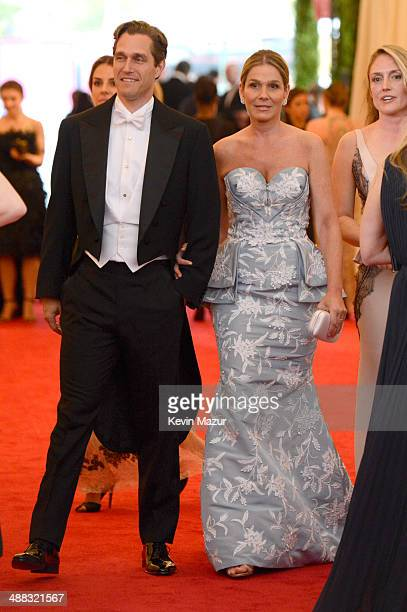 Eric Zinterhofer and Aerin Lauder attend the Charles James Beyond Fashion Costume Institute Gala at the Metropolitan Museum of Art on May 5 2014 in...