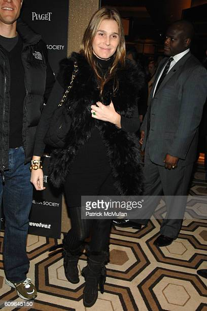 Eric Zinterhofer and Aerin Lauder attend THE CINEMA SOCIETY and PIAGET host a screening of REVOLVER at Tribeca Grand Hotel on December 2 2007 in New...