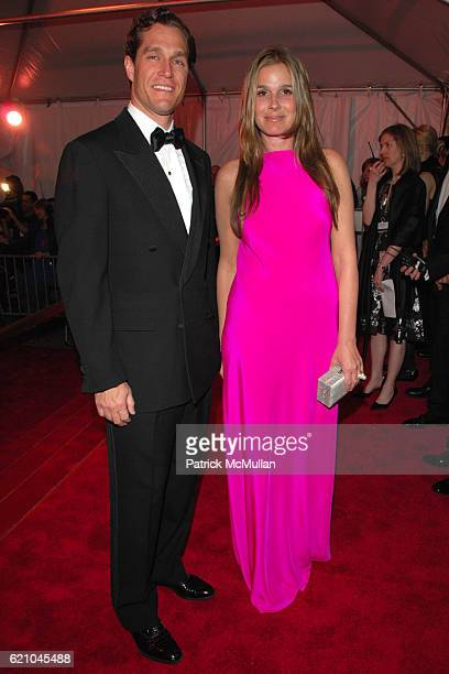 Eric Zinterhofer and Aerin Lauder attend THE COSTUME INSTITUTE GALA SUPERHEROES with honorary chair GIORGIO ARMANI at The Metropolitan Museum of Art...