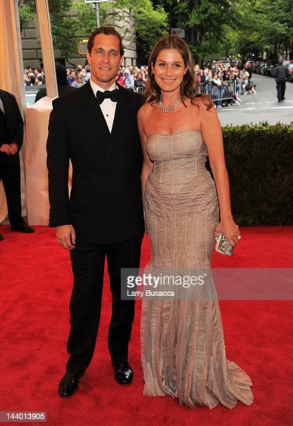 Eric Zinterhofer and Aerin Lauder attend the Schiaparelli And Prada Impossible Conversations Costume Institute Gala at the Metropolitan Museum of Art...