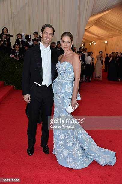Eric Zinterhofer and Aerin Lauder attends the Charles James Beyond Fashion Costume Institute Gala at the Metropolitan Museum of Art on May 5 2014 in...