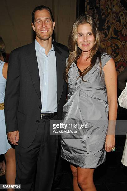 Eric Zinterhofer and Aerin Lauder Zinterhofer attend Men's Vogue Dinner in Honor of Roger Federer at Wakiya on August 23 2007 in New York City