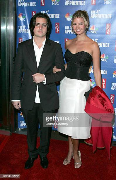 Eric Zinterhofer and Ivanka Trump during The Apprentice 2 Season Finale Arrivals at Roseland in New York City New York United States