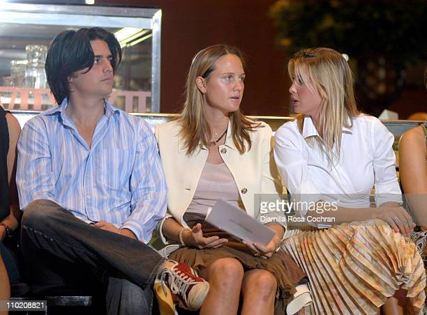 Eric Zinterhofer Jazz Johnson and Ivanka Trump during Olympus Fashion Week Spring 2005 Behnaz Sarafpour Front Row at Tiffany Co in New York City New...