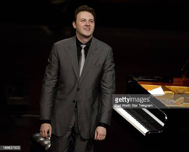 Eric Zuber of the United States on stage during the sixth day of the preliminary round of the 14th Van Cliburn International Piano Competition in the...