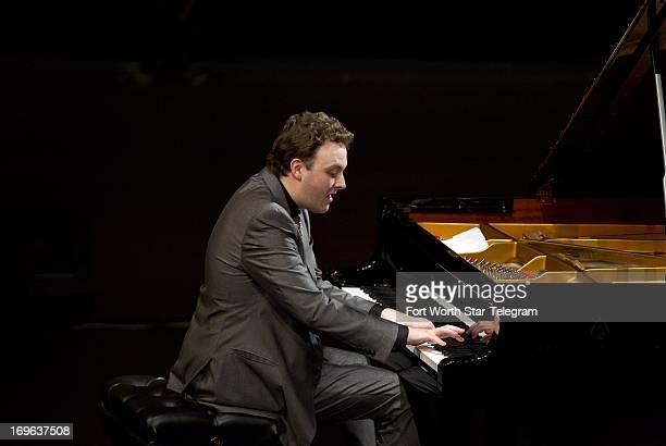 Eric Zuber of the United States performs during the sixth day of the preliminary round of the 14th Van Cliburn International Piano Competition in the...