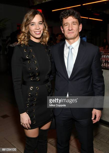 Erica Alessandri and Marco Zambianchi attend the CR Fashion Book Celebrating launch of CR Girls 2018 with Technogym at Spring Place on December 12...