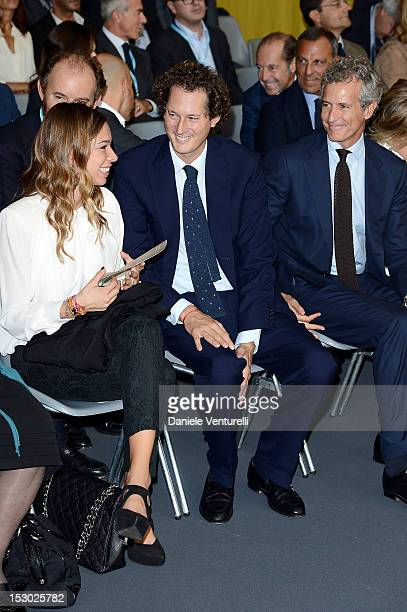 Erica Alessandri Chrysler and Fiat chairman John Elkann and Alessandro Benetton attend the Technogym Village Opening and Wellness Congress on...