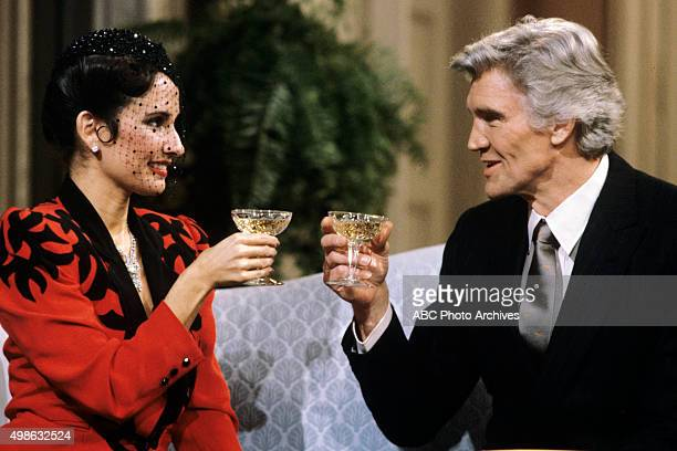 Erica and Adam celebrate at Jenny and Greg's wedding reception on Jan 19 1984 on ABC Daytime's 'All My Children' 'All My Children' airs MondayFriday...