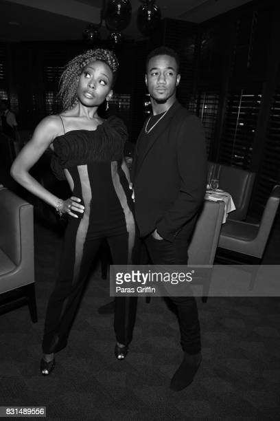 Erica Ash and Jessie T Usher at Survivor's Remorse x Upscale Magazine 'Champions Table' Private Dinner at American Cut on August 14 2017 in Atlanta...