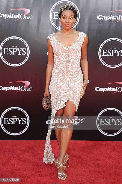 Erica Ash arrives at The 2016 ESPYS at Microsoft Theater on July 13 2016 in Los Angeles California