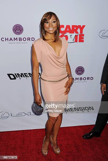 Erica Ash arrives at the 'Scary Movie V' - Los Angeles Premiere at ArcLight Cinemas Cinerama Dome on April 11, 2013 in Hollywood, California.