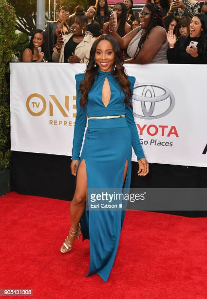 Erica Ash at the 49th NAACP Image Awards on January 15 2018 in Pasadena California