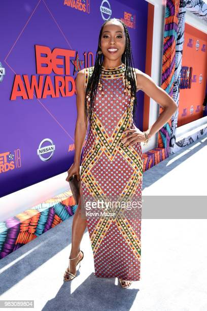 Erica Ash attends the 2018 BET Awards at Microsoft Theater on June 24 2018 in Los Angeles California