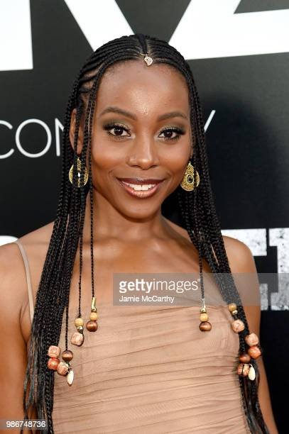 Erica Ash attends the Starz 'Power' The Fifth Season NYC Red Carpet Premiere Event After Party on June 28 2018 in New York City