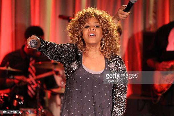 Erica AtkinsCampbell of Mary Mary performs at the Canal Room on February 22 2011 in New York City