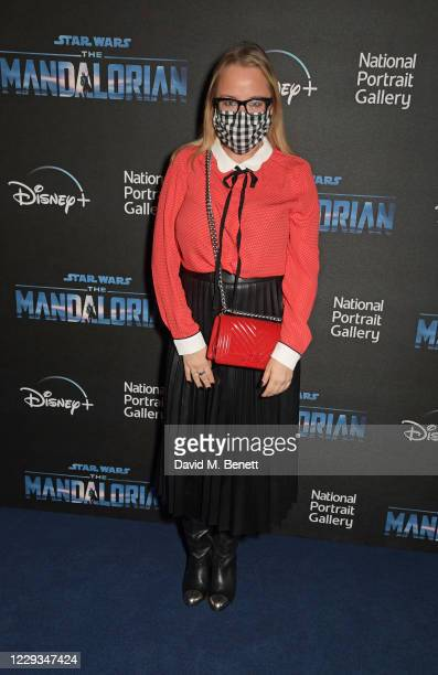 """Erica Bergsmeds attends a private view of """"The Mandalorian And The Child"""", a special portrait being unveiled in collaboration with the National..."""