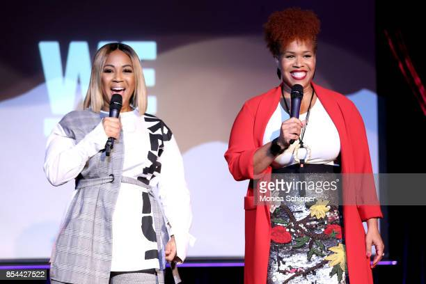 Erica Campbell and Tina Campbell of Mary Mary perform onstage at WE tv hosts an exclusive premiere event for the final season of Mary Mary on...
