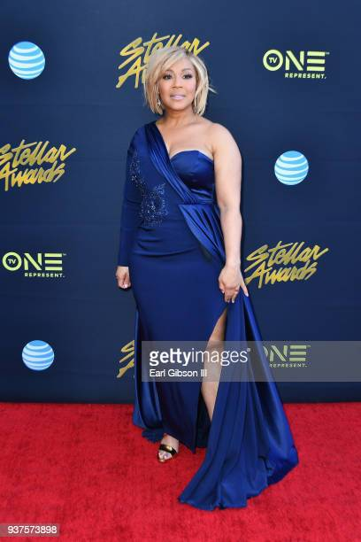 Erica Campbell attends the 33rd annual Stellar Gospel Music Awards at the Orleans Arena on March 24 2018 in Las Vegas Nevada