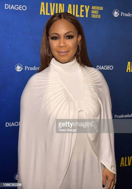 Erica Campbell attends the Alvin Ailey American Dance Theater's 60th Anniversary Opening Night Gala Benefit at New York City Center on November 28...
