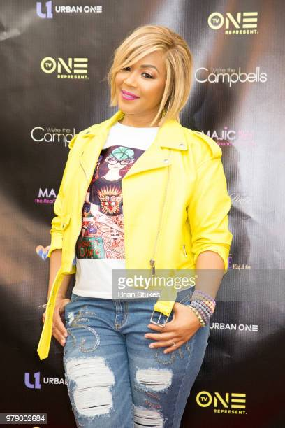 Erica Campbell and Warryn Campbell attend 'We're The Campbells' Watch Party and QA at City of Praise Family Ministries on June 19 2018 in Largo...
