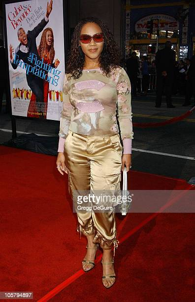 Erica Campbell of Mary Mary during The Fighting Temptations Premiere at Mann's Chinese Theatre in Hollywood California United States