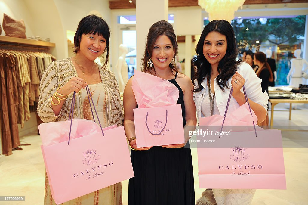 Erica Chan, Christine Martinez and Randi Zuckerberg attend 'A Balanced Life' discussion panel event at Calypso St. Barth at Stanford Shopping Center on April 18, 2013 in Palo Alto, California.
