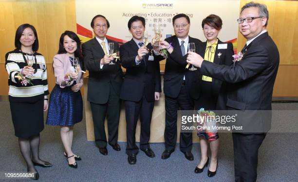 Erica Chen, director of CIMA Hong Kong; Deborah Leung, General Manager-Greater China of CPA Australia; Professor Chan Wing-wah, Deputy Director of...