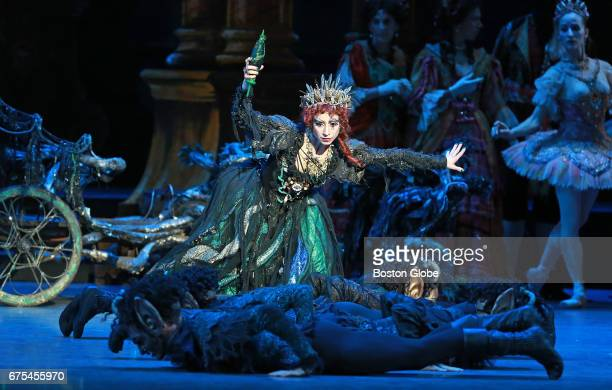 Erica Cornejo As Carabosse is pictured during a dress rehearsal for the Boston Ballet production of The Sleeping Beauty at the Boston Opera House on...