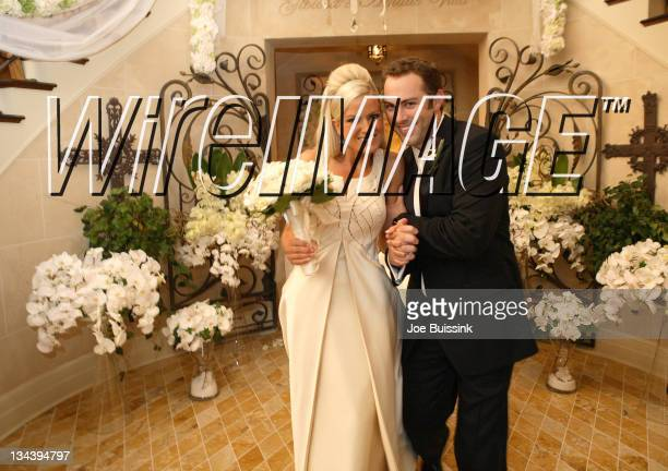 Erica Dahm and Jay McGraw during Dr. Phil's Son Jay McGraw and Erica Dahm Wedding Photos at Private Home in Beverly Hills, California, United States.