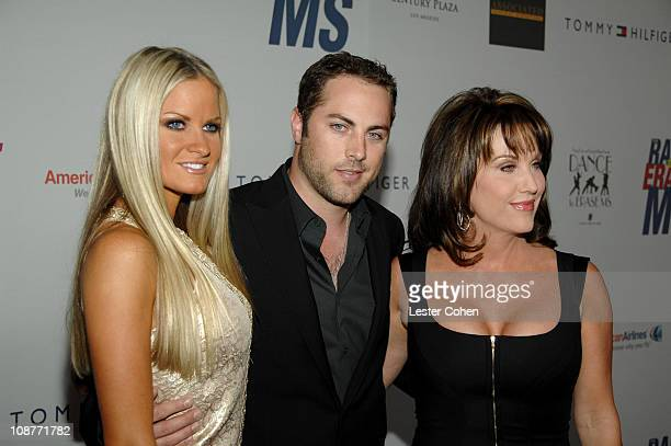 """Erica Dahm, Jay McGraw and Robin McGraw during 14th Annual Race to Erase MS Themed """"Dance to Erase MS"""" - Red Carpet at Hyatt Regency Century Plaza in..."""