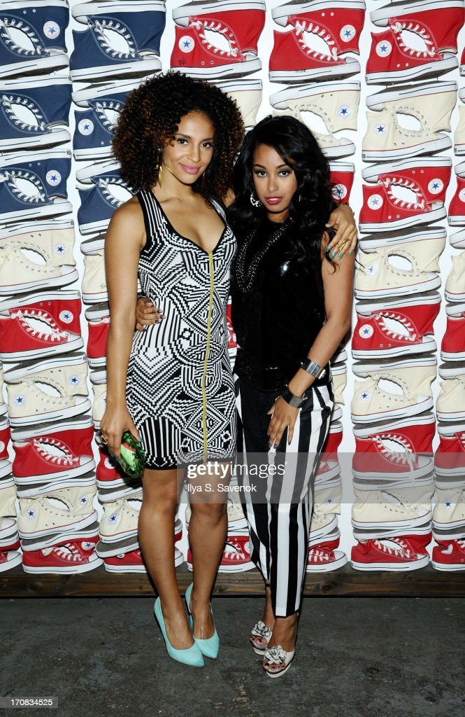 Erica Dickerson and Davetta Sherwood attend Fuse's screening of 'The Hustle' at Converse Rubber Tracks Studio on June 18, 2013 in the Brooklyn borough of New York City.