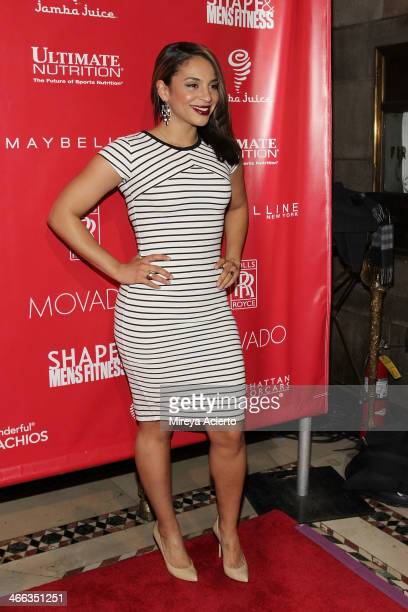 Erica Dickerson attends Super Bowl XLVIII Party Hosted By Shape And Men's Fitness at Cipriani 42nd Street on January 31 2014 in New York City